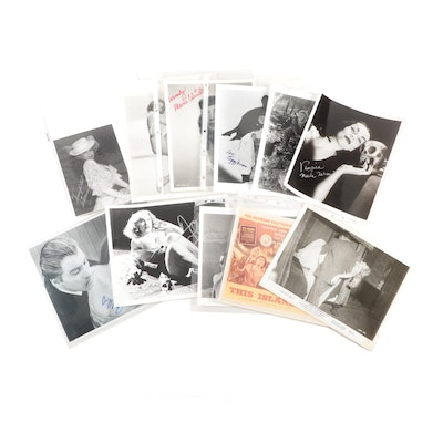 Signed Photographic Prints of Golden Age Hollywood Actors and Actresses