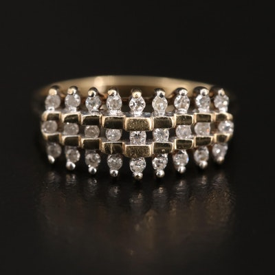 10K Stepped Diamond Ring