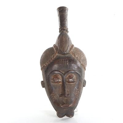 Baule Carved Wood Mask, Côte d'Ivoire