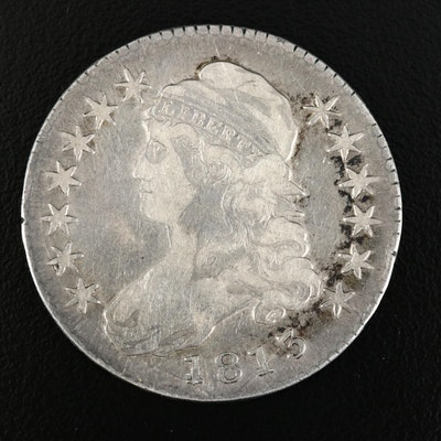 1813 Capped Bust Lettered Edge Silver Half Dollar