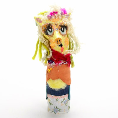 Steph Neary Outsider Art Mixed Media Sculpture, 21st Century