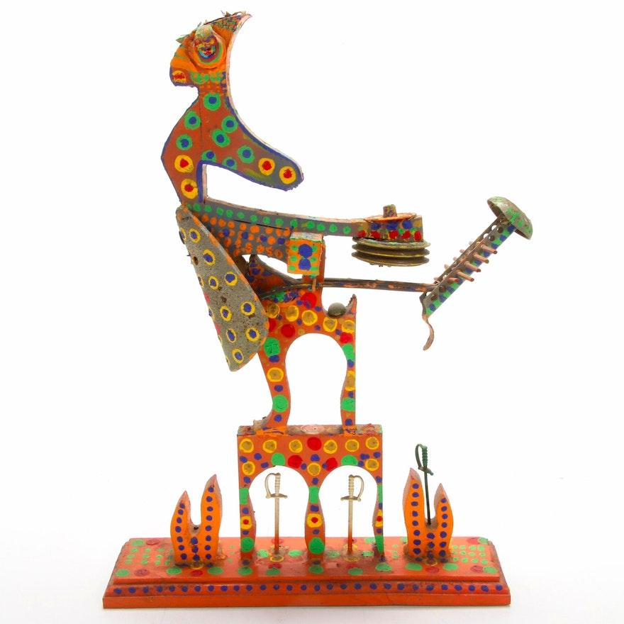 "Norman Scott ""Butch"" Quinn Folk Assemblage Sculpture, Late 20th Century"