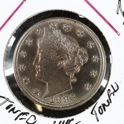 "1883 ""No Cents"" Liberty ""V"" Nickel"