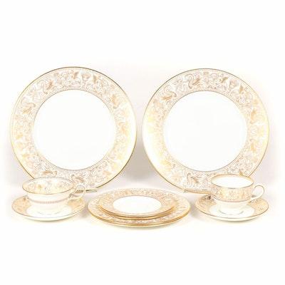 """Wedgwood """"Florentine Gold"""" Bone China Dinnerware, 1961–1986"""