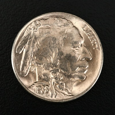 Uncirculated 1938-D Buffalo Nickel