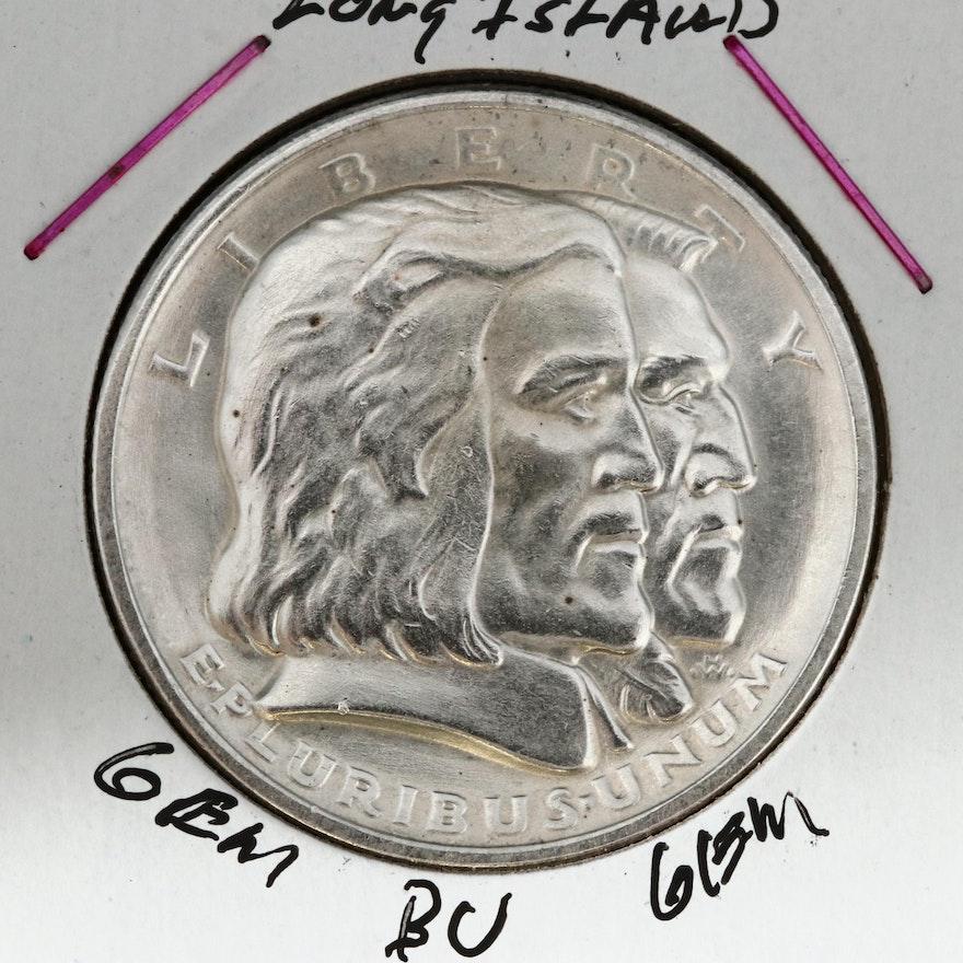 1936 Long Island Tercentenary Silver Half Dollar