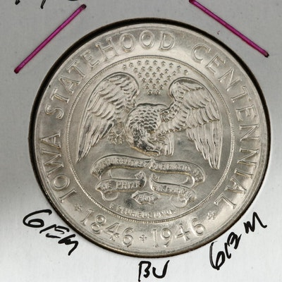 1946 Iowa Centennial Silver Half Dollar