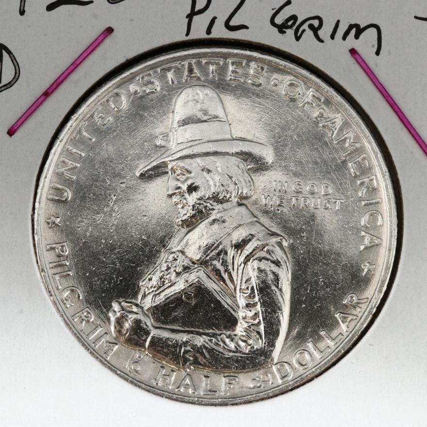 1920-D Pilgrim Tercentenary Silver Half Dollar