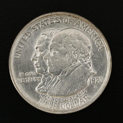 1923-S Monroe Doctrine Centennial Commemorative Silver Half Dollar