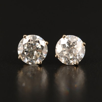 14K 2.00 CTW Diamond Stud Earrings with GIA Reports