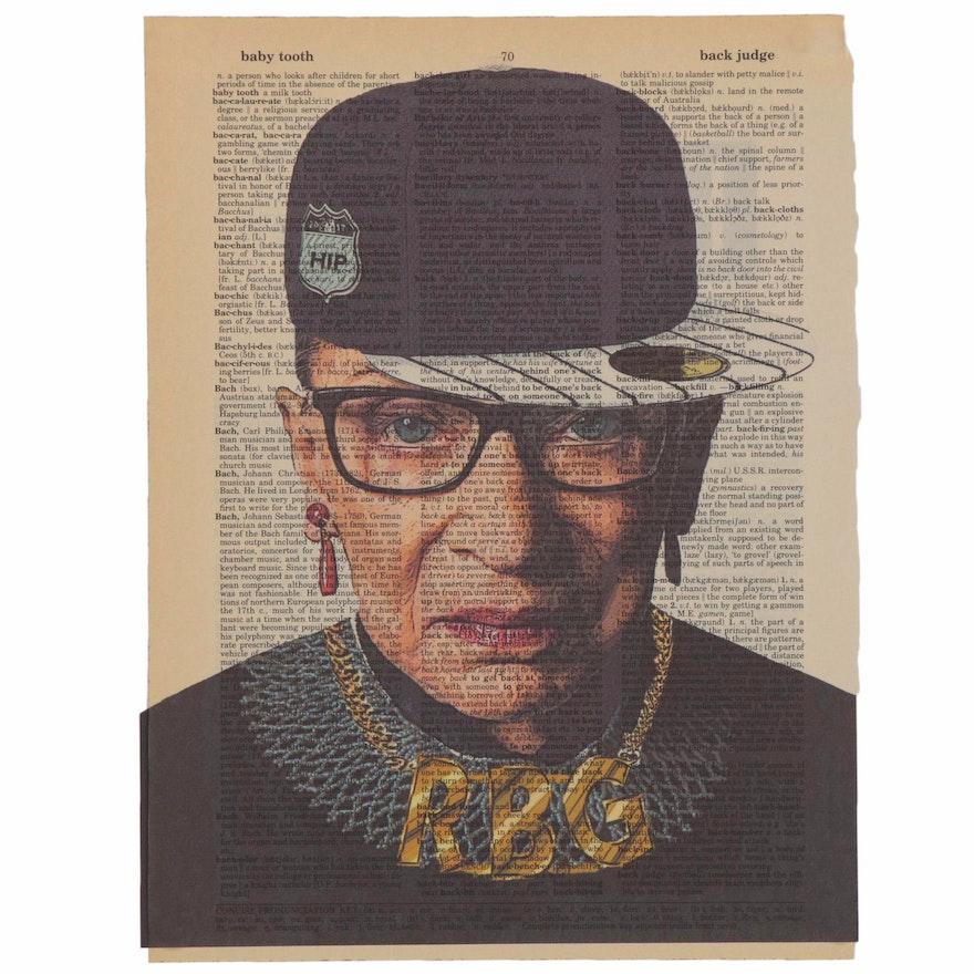 Grant Rosen and Micha Ruechenhoff Pop Art Giclée of Ruth Bader Ginsburg