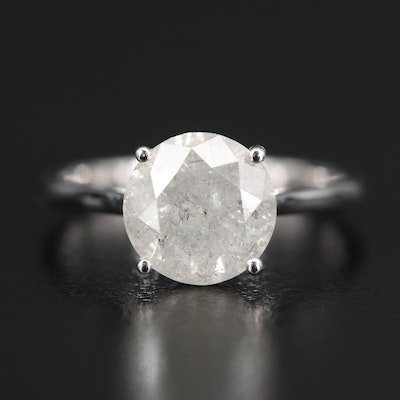 14K 2.43 CT Diamond Solitaire Ring