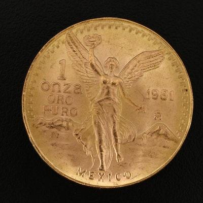 1981 Mexico Gold Libertad 1-Oz. Bullion Coin
