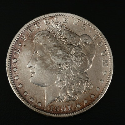Better Date Toned 1901-S Morgan Silver Dollar