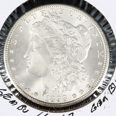 1898-O Uncirculated Morgan Silver Dollar.