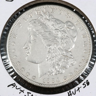 Better Date 1884-S Uncirculated Morgan Silver Dollar