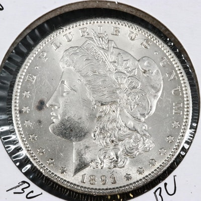 Better Date 1891-S Uncirculated Morgan Silver Dollar