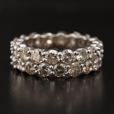 14K 5.04 CTW Diamond Eternity Ring