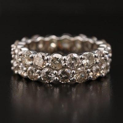 14K 5.04 CTW Diamond Eternity Ring