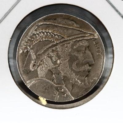 "Contemporary ""Hobo"" Style 1929 Buffalo Nickel"