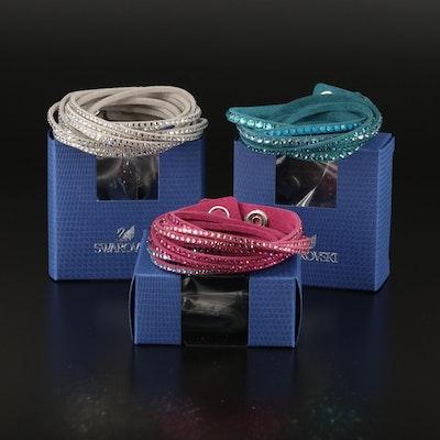 Swarovski Crystal Suede Wrap Bracelets