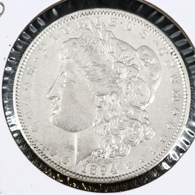 Better Date Lower Mintage 1894-O Uncirculated Morgan Silver Dollar
