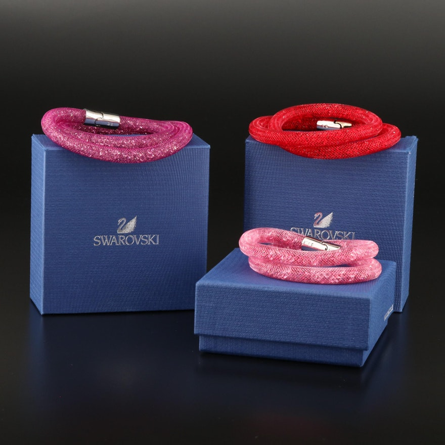 """Swarovski """"Stardust"""" Double Crystal Bracelets"""