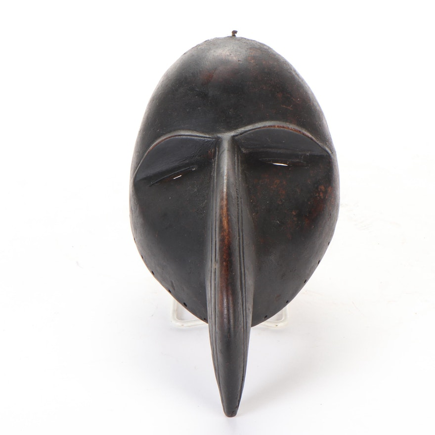"""Dan Style """"Gagon"""" Carved Wood Mask, West Africa"""