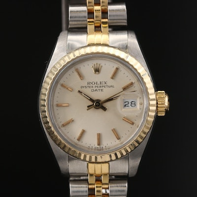 1983 Rolex Oyster Perpetual Date 18K and Stainless Steel Automatic Wristwatch