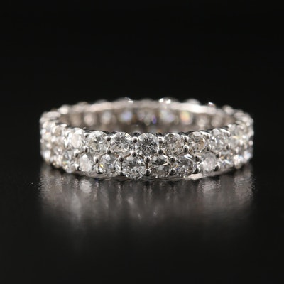 14K 2.34 CTW Diamond Double Row Eternity Band