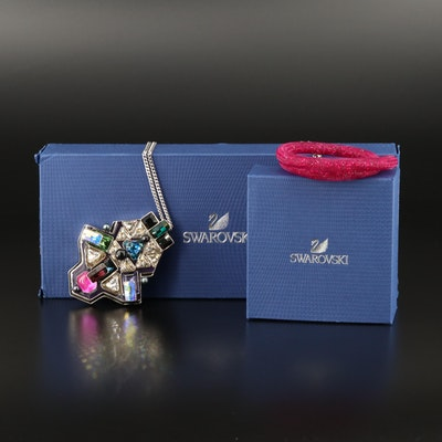 "Swarovski Crystal ""Buzz"" Necklace and ""Stardust"" Double Bracelet"