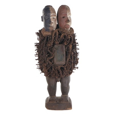 "Yombe Style ""Nkisi N'kondi"" Double Power Figure, Central Africa"