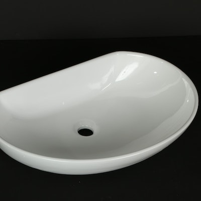 "24"" Irregular Shaped Porcelain Sink Vessel"
