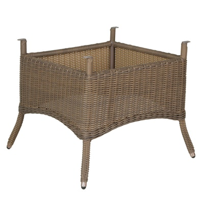 Resin Wicker Outdoor Dining Table Base
