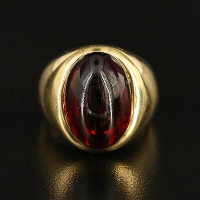 18K 17.53 CT Garnet Ring