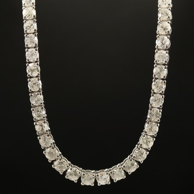 14K 20.12 CTW Diamond Line Necklace