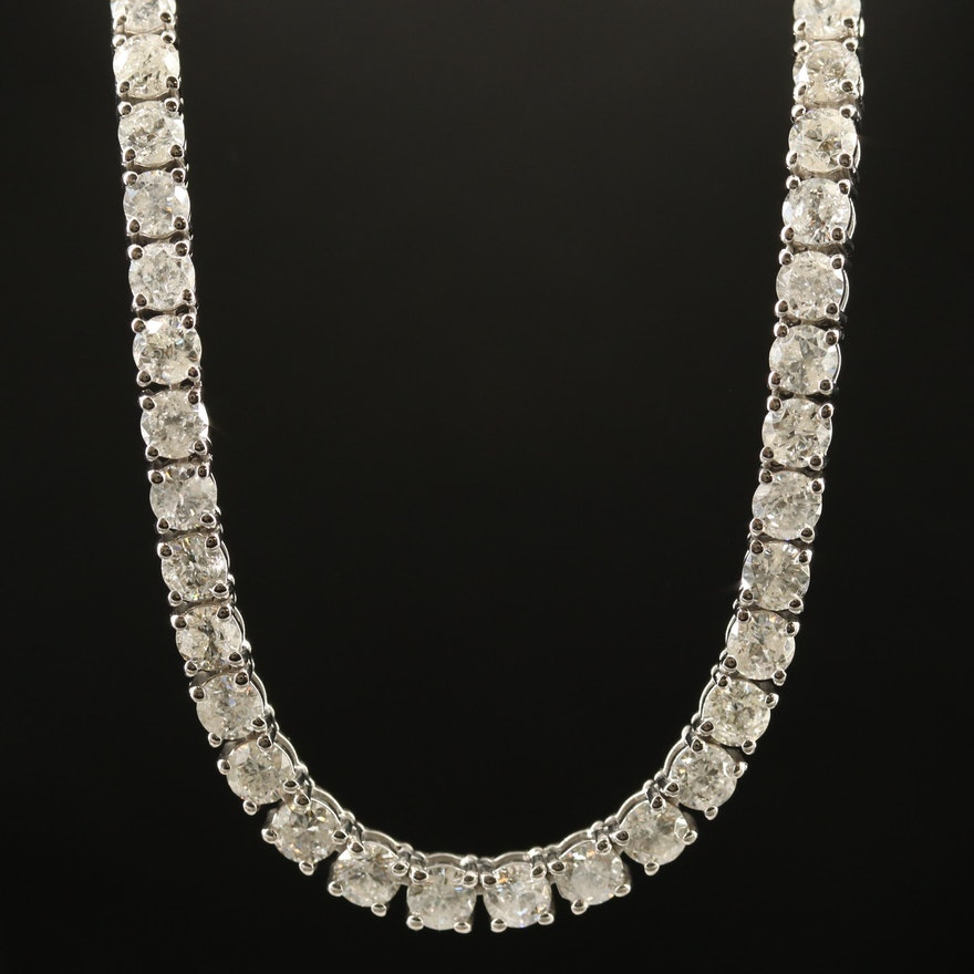 14K 20.12 CTW Diamond Line Necklace