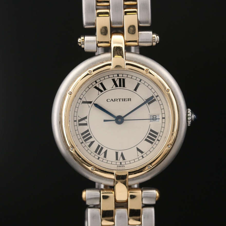 Cartier Panthere Vendome 18K Gold and Stainless Steel Quartz Wristwatch