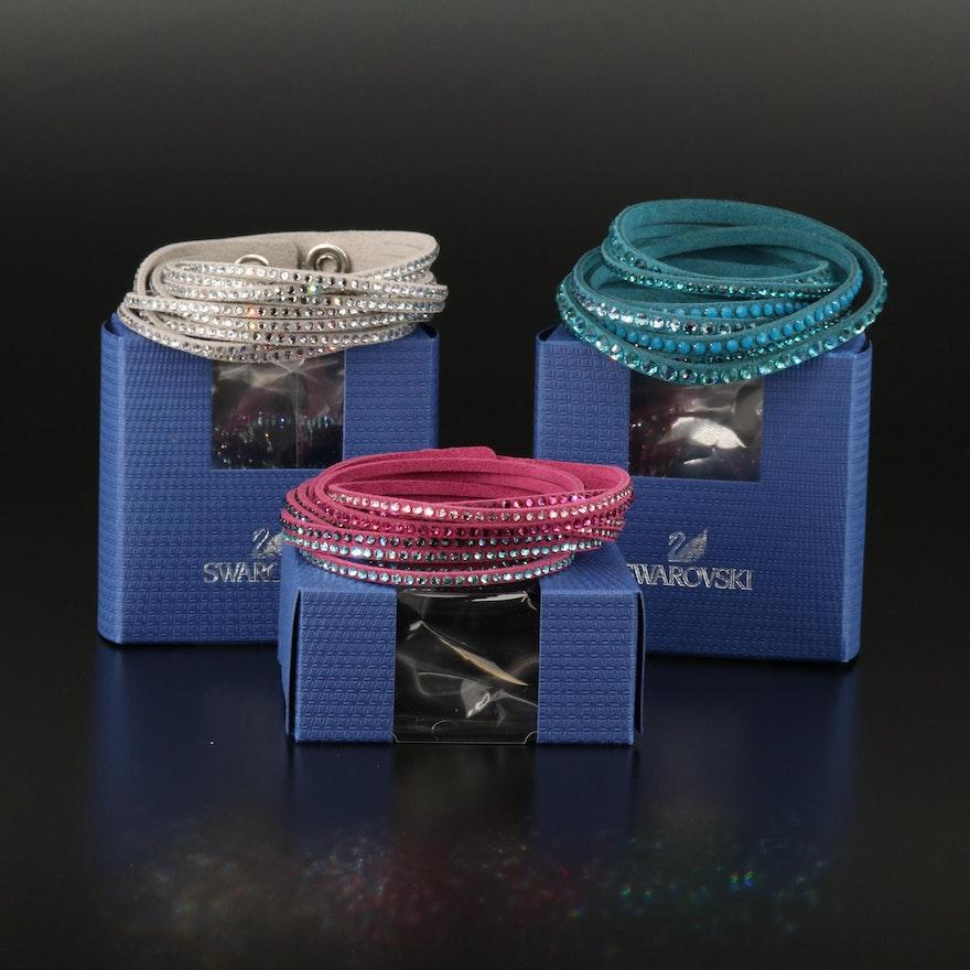Swarovski Crystal Suede Multi-Row Bracelets