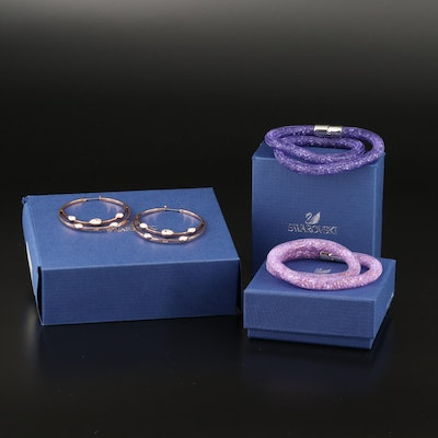 "Swarovski Crystal ""Gaze"" Earrings and ""Stardust"" Bracelets"