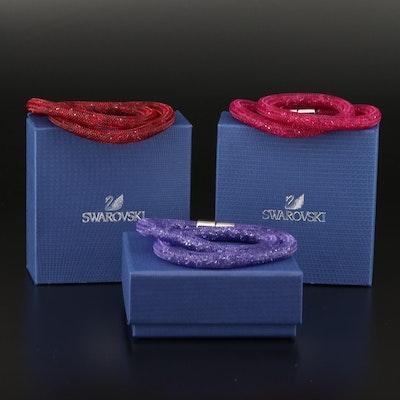 """Swarovski """"Stardust"""" Wrap Bracelets"""