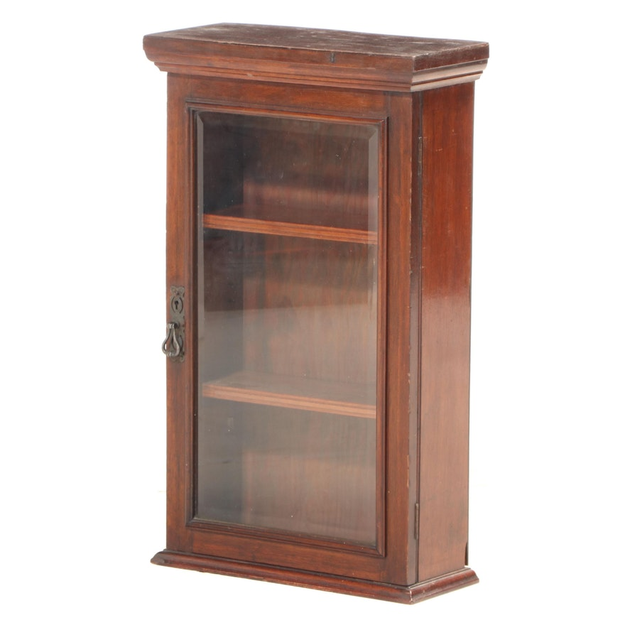 Edwardian Mahogany Wall Cabinet, Early 20th Century