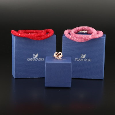 "Swarovski Crystal ""Cupidon"" Ring and ""Stardust"" Double Bracelets"