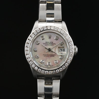 2005 Rolex Datejust 14K and Stainless Steel, 1.12 CTW Diamond and MOP Wristwatch