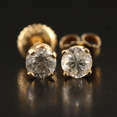 14K 0.63 CTW Diamond Stud Earrings