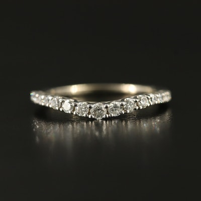 14K Graduated Diamond Contour Band