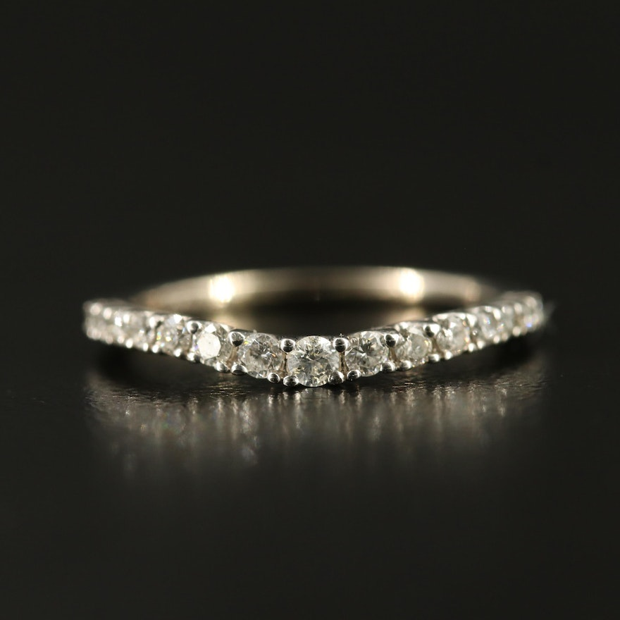 14K Graduated Diamond Shadow Band
