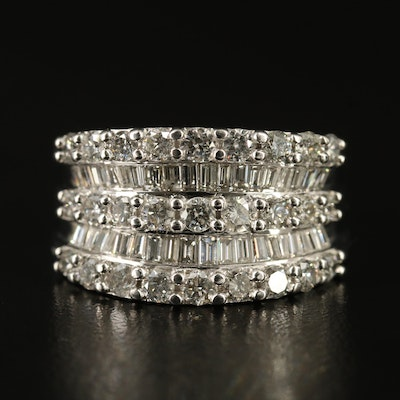 14K 1.56 CTW Diamond Concave Band