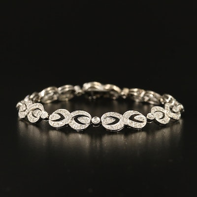 14K 1.48 CTW Diamond Figure-Eight Link Bracelet