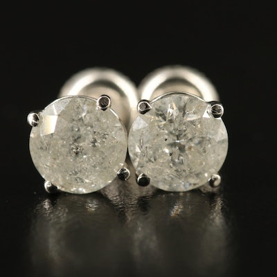 14K 2.98 CTW Diamond Martini Set Stud Earrings